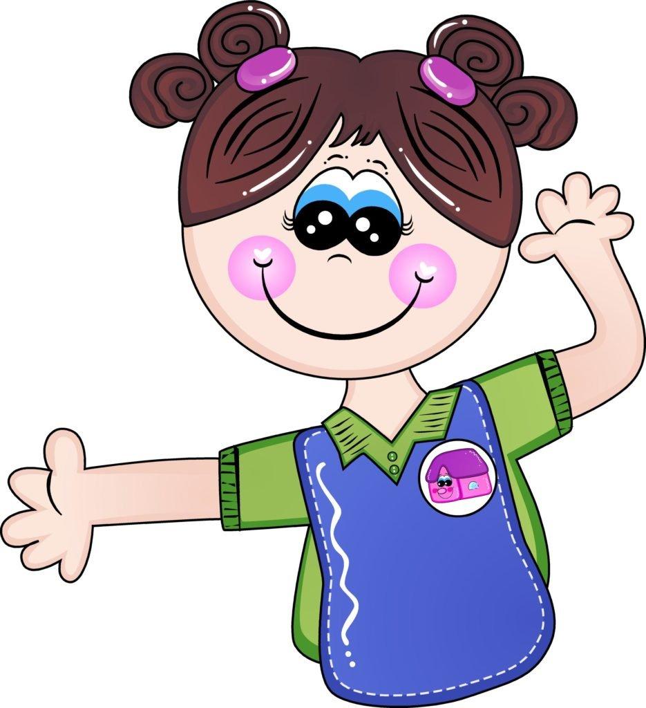 La niña, representa la Felicidad de Estudiar en el PreSchool del Colegio La Casona de Mamá.